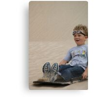 Goggles in the Sand Canvas Print