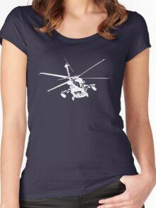 blackhawk outbound [ white on dark T ] Women's Fitted Scoop T-Shirt