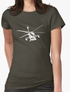 blackhawk outbound [ white on dark T ] Womens Fitted T-Shirt