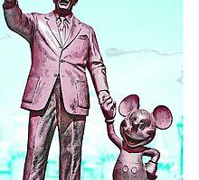 Walt and Mickey Samsung Galaxy Cases and Skins Aqua by kellyblackie