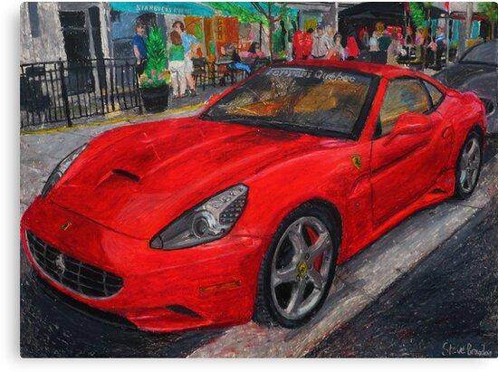 Ferrari California oil pastel drawing. by SteveBrandon