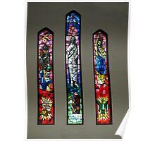 Three Windows of Drouin Anglican Christ Church, Gippsland Poster