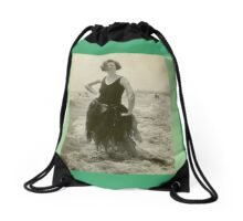 Seaweed Queen Venice Beach California 1925 Drawstring Bag
