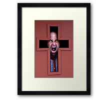 Angry about religion Framed Print