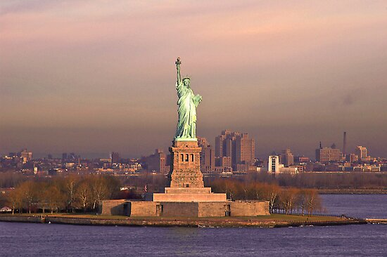 Lady Liberty Guarding the Harbor by TomSpencer