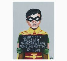 Funny Robin Superhero Mugshot Painting Kids Clothes