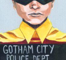 Funny Robin Superhero Mugshot Painting Sticker