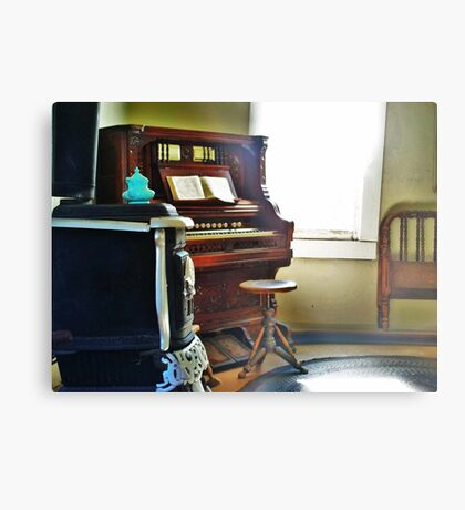 Antique Organ Metal Print