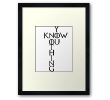 "Game of Thrones ""You Know Nothing"" Crossword Style Framed Print"