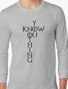 """Game of Thrones """"You Know Nothing"""" Crossword Style Long Sleeve T-Shirt"""