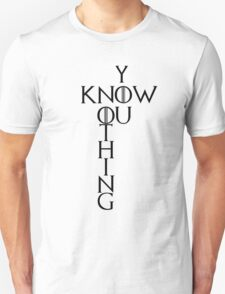 """Game of Thrones """"You Know Nothing"""" Crossword Style T-Shirt"""