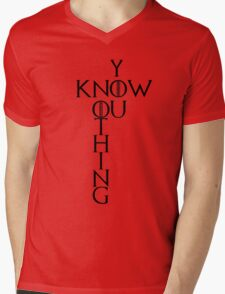 """Game of Thrones """"You Know Nothing"""" Crossword Style Mens V-Neck T-Shirt"""