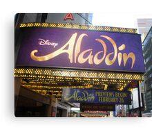 Aladdin Broadway Marquee Canvas Print