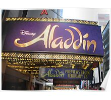Aladdin Broadway Marquee Poster