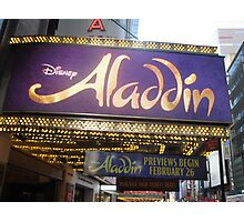 Aladdin Broadway Marquee Photographic Print