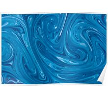 Blue Marble Swirls Poster