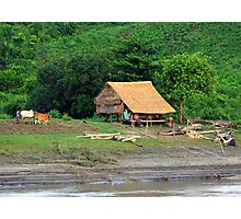 Rural scene, Irrawaddy River, Burma Photographic Print
