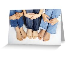 Blue Jeans and Bare Feet Greeting Card