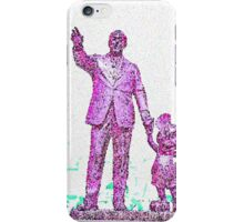 Mickey Mouse and Walt Disney iphone Case or Skin Statue in Disneyland Pink Pointillism iPhone Case/Skin