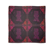 Might As Well Live - Dorothy Parker (ruby) Scarf