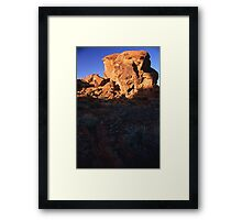 Megalith in the Valley of Fire, Nevada  Framed Print