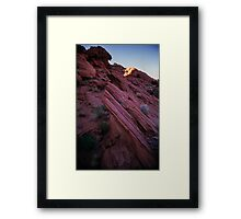 Striated Rock, Valley of Fire, Nevada Framed Print