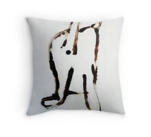 Scat, Cat! 4 Throw Pillow