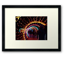 Festival of Lights Earthworm Tunnel Framed Print