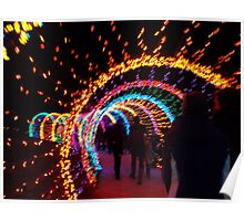 Festival of Lights Earthworm Tunnel Poster