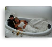 Alana & Toney in the spa. Canvas Print