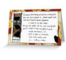 Battery Hen Greeting Card