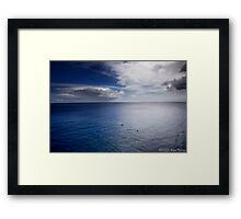 Pacific Ocean At South Point Framed Print
