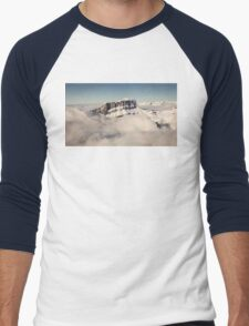 Above the Clouds, French Alps Men's Baseball ¾ T-Shirt