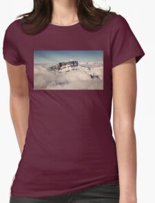 Above the Clouds, French Alps Womens Fitted T-Shirt