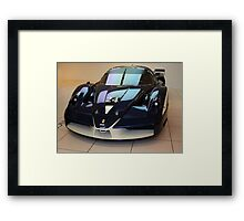 "Blue ""Blu Tour de France"" Ferrari FXX, Front View, Maranello, Italy Framed Print"