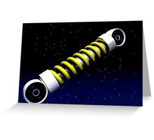 The Suspension of Spacetime Greeting Card