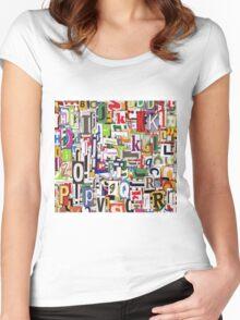 alphabet blocks Women's Fitted Scoop T-Shirt