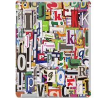 alphabet blocks iPad Case/Skin
