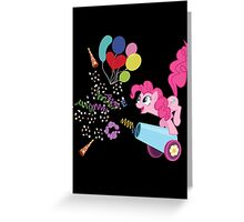 Pinkie Pie Cannon! Greeting Card