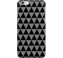 Black and Medium Gray Triangle Pattern iPhone Case/Skin