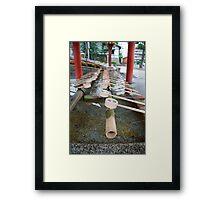 Purification Fountain, Ryoanji Temple  Framed Print