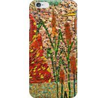 Heron and sun mosaic iPhone Case/Skin
