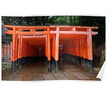 Torii, Fushimi Inari Taisha Temple, Kyoto  Poster