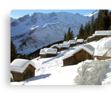 white roof tops Canvas Print
