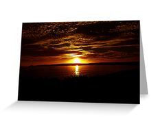 Sunset over Victor Greeting Card