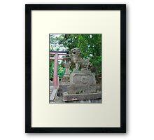 Lion Statue at Nara  Framed Print
