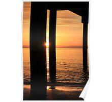Sunset Piles Poster