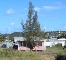 a historic Antigua and Barbuda landscape Sticker