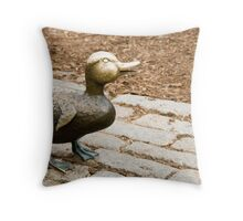 Little Bronze Duck Throw Pillow