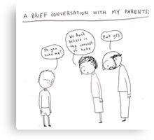 Parents Canvas Print
